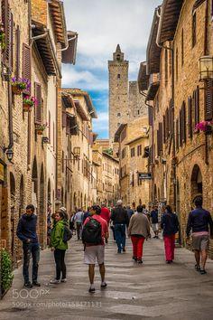 San Gimignano by KlepikovaDaria. @go4fotos