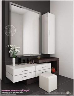 Dressing Table Minimalist And Modern Latest Dressing Table Design In with size 975 X 1245 Bedroom Dressing Table Designs - A bedroom should be the coziest Simple Bathroom, Decor Interior Design, Dresser Table, Trendy Bathroom, Modern Dressing Table Designs, Dressing Room Design, Bedroom Design, Dressing Room Decor, Table Design