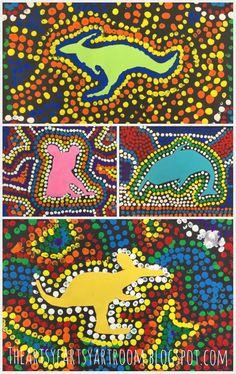 The Artsy Fartsy Art Room Grade Australian Aboriginal Dot Art 2015 3rd Grade Art Lesson, Third Grade Art, Grade 3 Art, Aboriginal Dot Art, Aboriginal People, Kunst Der Aborigines, 7 Arts, Ecole Art, Art Lessons Elementary
