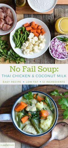 Easy Thai Chicken Soup with Coconut Milk (a Healthier Recipe)