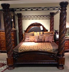 King canopy bed http://www.miskellys.com/ I have a friend with this bed. Omg it's so big and beautiful!!!
