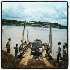 Crossing Mamore #river in #Beni, #Bolivia #travel #tour #offroad #4x4
