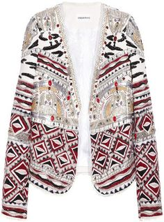 203fe7a6ec2 Emilio Pucci Embellished wool, silk and cotton-blend jacket - ShopStyle  Blazers