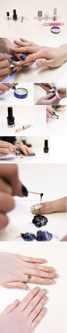 DIY: Lines nail art