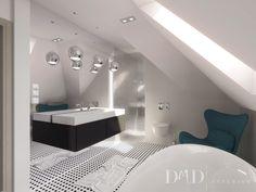 DMD Interior- Dom  w Werbenach łazienka na poddaszu