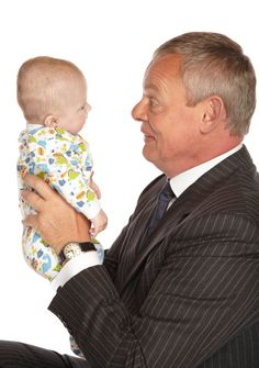 Doc Martin and son...How did the producers find a baby that looks just like Doc Martin?