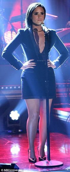 Truly stunning: She also performed her new single Confident, proving that she really has i...