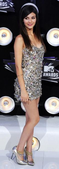 Victoria Justice ♥ Sequins Sparkle Dress
