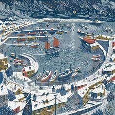 Newlyn Harbour Snow