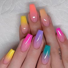 40 Fabulous Nail Designs That Are Totally in Season Right Now - clear nail art d. 40 Fabulous Nail Designs That Are Totally in Season Right Now - clear nail art designs,almond nail art design, acrylic nail art, nail designs with glitter designs Clear Nail Designs, Ombre Nail Designs, Nail Art Designs, Ombre Nail Colors, Summer Nail Designs, Unique Nail Designs, Nail Polish Designs, Beautiful Nail Designs, Summer Acrylic Nails