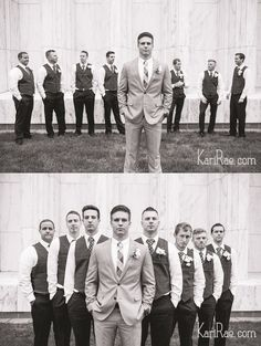 REPIN: Portland Temple Wedding, LDS wedding, groomsmen pose, fun and classy groomsmen - Kari Rae Photography
