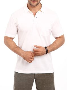 Color Plus introduces this polo neck T shirt for corporate men of today. This casual T shirt for men is made up of quality fabric which lends an ultimate level of comfort to the user. You can wear this along with a pair of jeans for your social get-togethers as well as to your office. This white T shirt has a regular-fit design which will make your personality look even more distinct. You will get a lot of appreciation over the selection of this attire. You are sure to be the center of ...