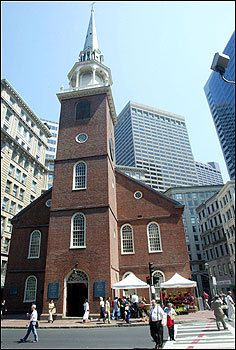 Old South Meeting House, Boston, Massachusetts was built as a Puritan meetinghouse in 1729.  It was the place from which the Boston Tea Party was planned and organized.