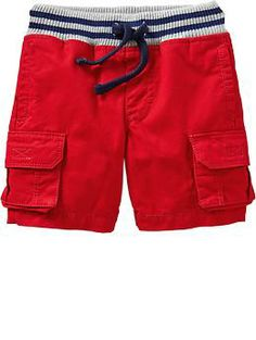 Jersey-Waist Cargo Shorts for Baby