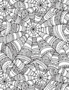 Illustration about Vector abstract Halloween spider web seamless pattern. Illustration of background, autumn, capture - 39914245 Abstract Coloring Pages, Adult Coloring Book Pages, Free Coloring Pages, Printable Coloring, Doodle Coloring, Coloring Sheets, Coloring Books, Zentangle Patterns, Zentangles