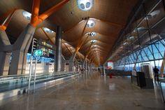 No aeroporto em Madrid.