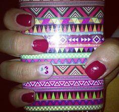 Red cherries nail art