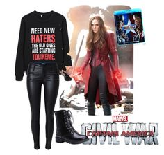 """""""haters gonna hate"""" by iainteezehxx ❤ liked on Polyvore featuring contestentry and CaptainAmericaCivilWar"""