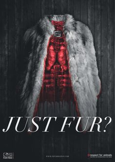 I love this poster because it shows the dark side of the fur and where it comes from. I like how dramatic yet truthful it is. It makes a point.