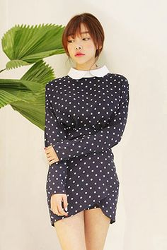 polka dots... yes, please! love the wrap-rise in the front! cool twist to something classic.