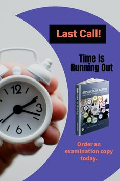 Time is running out. Order an examination copy today! Last Call, Business Website, Textbook, Action, Teaching, Running, Group Action, Learning, Education