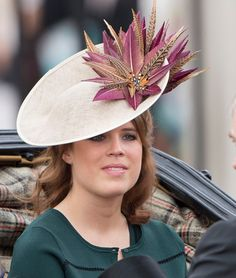 Princess Eugenie during the Trooping the Colour, this year marking the Queen's 90th birthday at The Mall on June 11, 2016 in London, England.