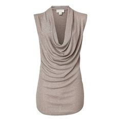 Polyvore & More!! / Witchery Metallic Cowl Neck Tank ($72) ❤ liked on... via Polyvore