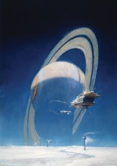 Titan Books has released another fabulous art book of a contemporary science fiction artist. The Art of John Harris, Beyond The Horizon is as beautiful as the images contained in it. Arte Sci Fi, Sci Fi Kunst, Science Fiction Kunst, Illustrator, 70s Sci Fi Art, Beyond The Horizon, New Retro Wave, Classic Sci Fi, Poster Design