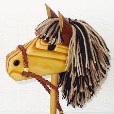 Sweet handmade wooden stick horse on Etsy - so hard to find good ones these days.