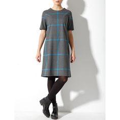Платье серо-голубая клетка из костюмной ткани. Состав:  50% шерсть  30% полиэстер 20% вискоза 42(XS), 44(S), 46(M)  Старая цена 7390 р Новая цена 5390 р  Доставка бесплатно  Контакты для заказа: Viber/WhatsApp/tel +79168319574 ☎️
