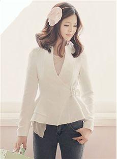 Glamorous Leisure Falbala Slim Long Sleeve Knit Short Coat
