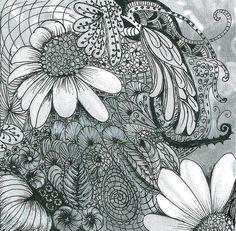 White Daisies Drawing  - White Daisies Fine Art Print