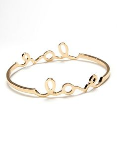 Love this Gold 'Love' Bangle by ZAD on #zulily! #zulilyfinds