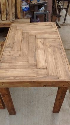 Making wood working plans work for you is easy but it requires proper planning and thought put into it. Woodworking plans can be used by either a novice or an experienced carpenter. Wooden Pallet Projects, Wood Pallet Furniture, Woodworking Projects Diy, Woodworking Wood, Wooden Pallets, Furniture Projects, Diy Furniture, Diy Pallet Table, Woodworking Beginner