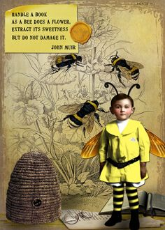≗ The Bee's Reverie ≗ bee boy collage by bockel24