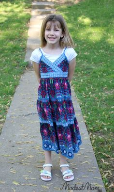 It is possible to dress little girls in a modest, yet modern style! Weekly pin link up, too!