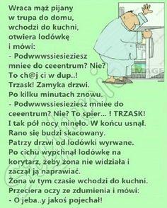 30 najlepszych kawałów na poprawę humoru – Demotywatory.pl Weekend Humor, Keep Smiling, Funny Stories, Man Humor, Motivation Inspiration, Haha, Geek Stuff, Jokes, Entertaining