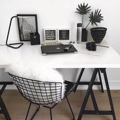 42 Amazing Home Office Ideas & Design - Zimmer ideen Tumblr Rooms, Tumblr Room Decor, Room Goals, Aesthetic Rooms, Aesthetic Black, Home And Deco, House Rooms, Office Decor, Office Ideas
