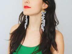 EARRINGS // Galeo // Handmade Statement Lace Earrings  by EPUU, $22.00