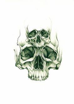 double skull sketch by Rebel Monkey Tattoos, via Flickr by reva