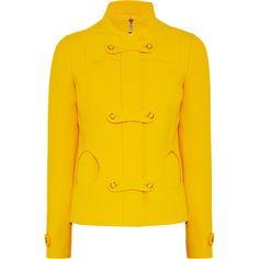 Michael Kors Cutout wool-crepe jacket ($1,995) ❤ liked on Polyvore