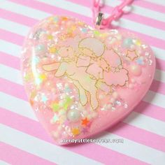 Pastel Pink Little Twin Stars Unicorn Resin Necklace from NerdyLittleSecrets on Etsy. Resin Necklace, Necklaces, Decoden Phone Case, Kawaii Jewelry, Resin Charms, Little Twin Stars, New Shop, Kawaii Fashion, Resin Art