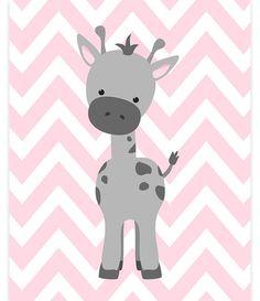 Art de chambre de bébé girafe bébé fille Zoo Art Zoo Nursery