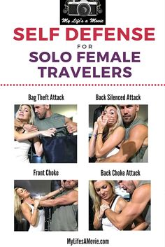 Self Defense Tips for Solo Female Travelers: Learn basic self defense techniques, and other important tips for always being prepared and safe when you travel solo! Informations About 7 Minute Self Def Self Defense Moves, Self Defense Techniques, Self Defense Weapons, Self Defense For Women, Karate, Krav Maga, Survival Tips, Survival Skills, Survival Quotes