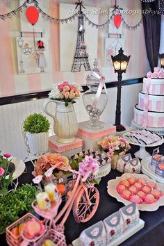 Dessert Tablescape | J'adore Paris!