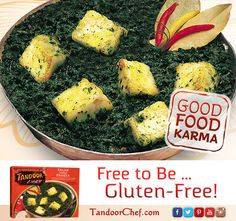 Our #PalakPaneer is both a #glutenfree and #vegetarian option!