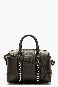 Givenchy Black Lucrezia Mini Chain Duffle Bag for women  cb8109ecc321a