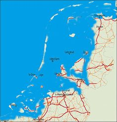 This is how The Netherlands would be without dykes Holland Map, Amsterdam Holland, Dutch People, Geography Map, Water Management, Alternate History, Old Maps, Historical Maps, Wild Nature