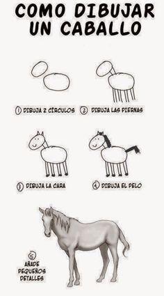 Como Dibujar un Caballo http://www.grafichistes.com/graficos/como-dibujar-un-caballo/ - #Chistes #Humor http://www.grafichistes.com