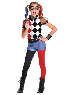 Your little jokester will feel right at home in this Kids DC Super Hero Girls Harley Quinn Deluxe Costume.  sc 1 st  Pinterest & Colorful Teen Witch Costume | Halloween Costumes | Pinterest ...